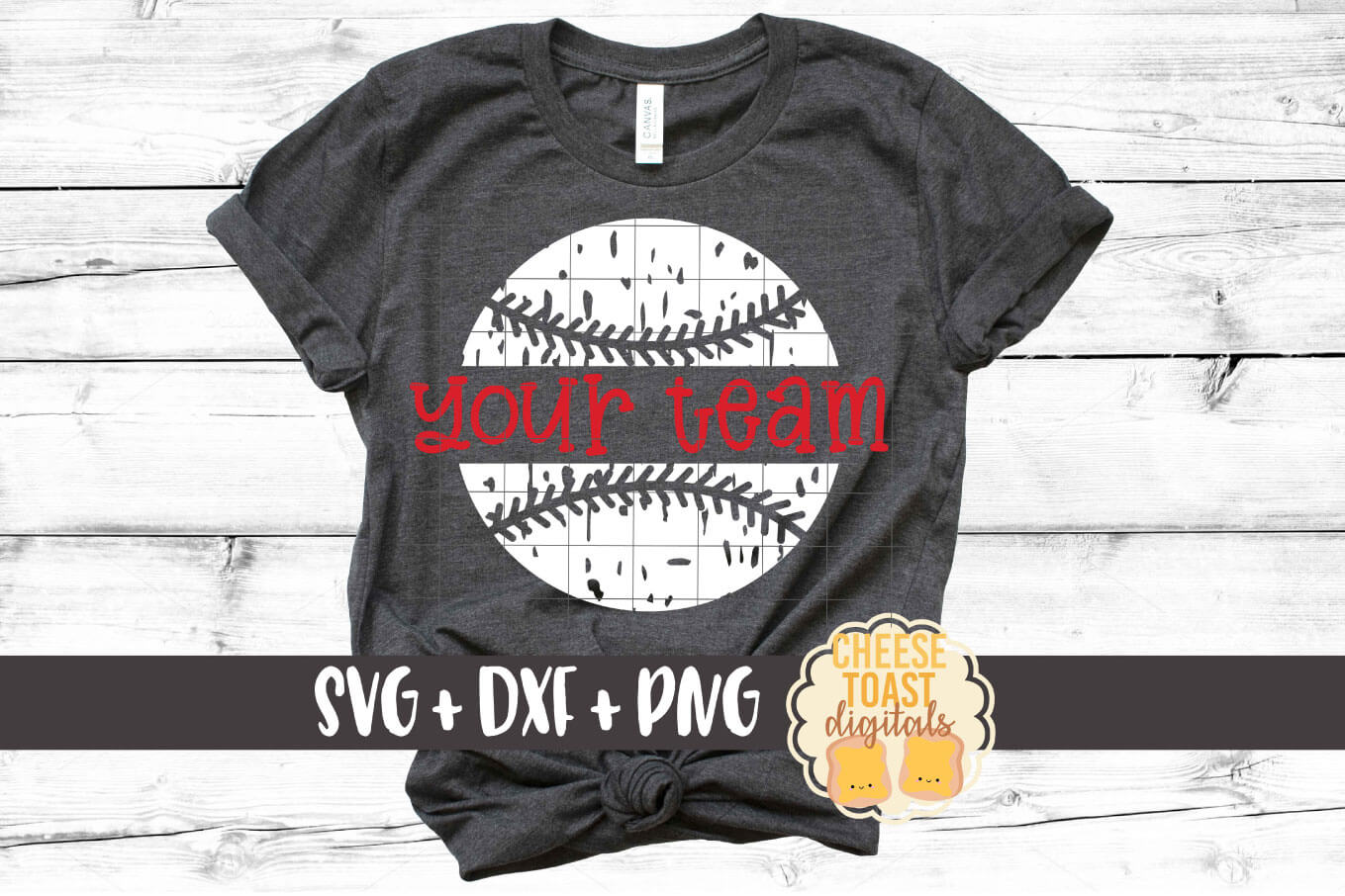 Personalized Distressed Baseball - Baseball Team SVG PNG DXF example image 1