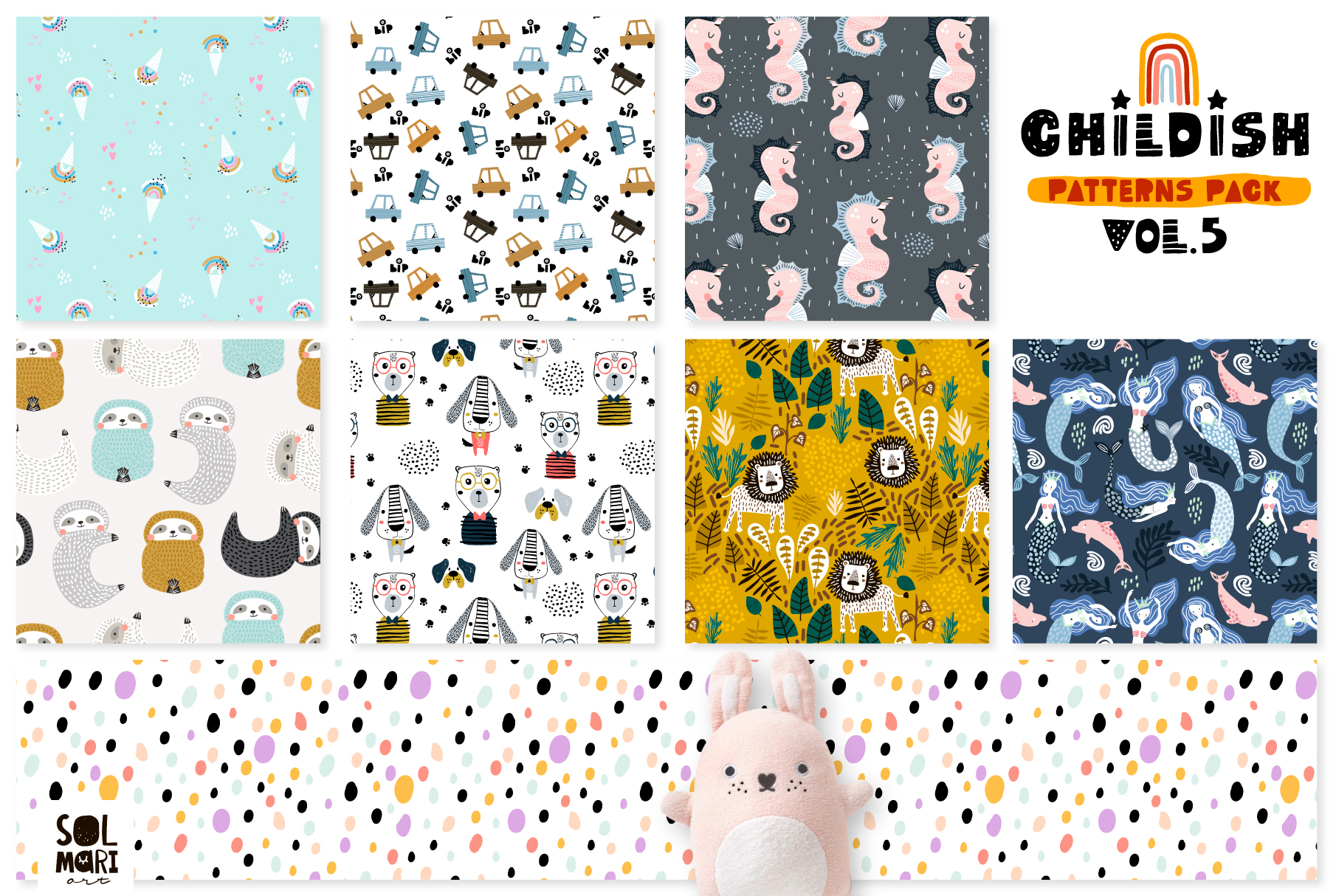 Childish patterns pack vol. 5 example image 5
