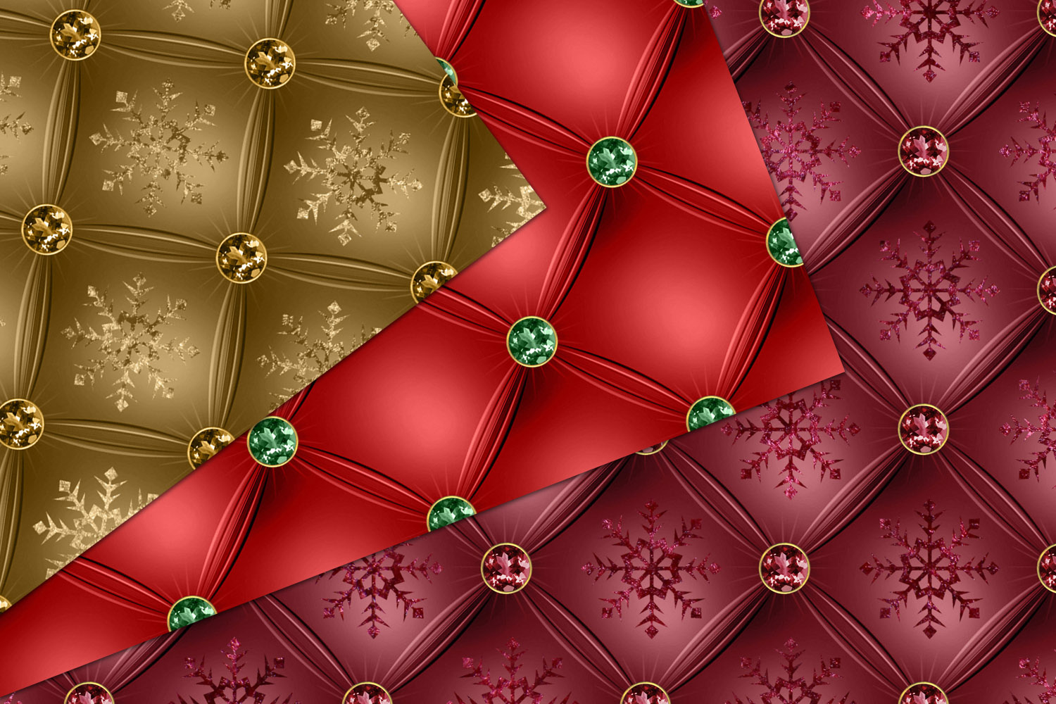 Tufted Christmas Digital Paper example image 3