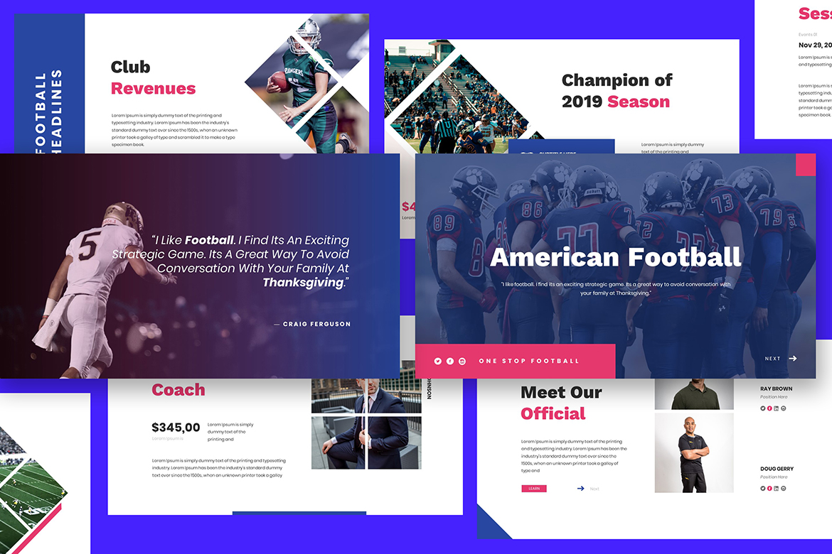 American Football Keynote Template example image 1