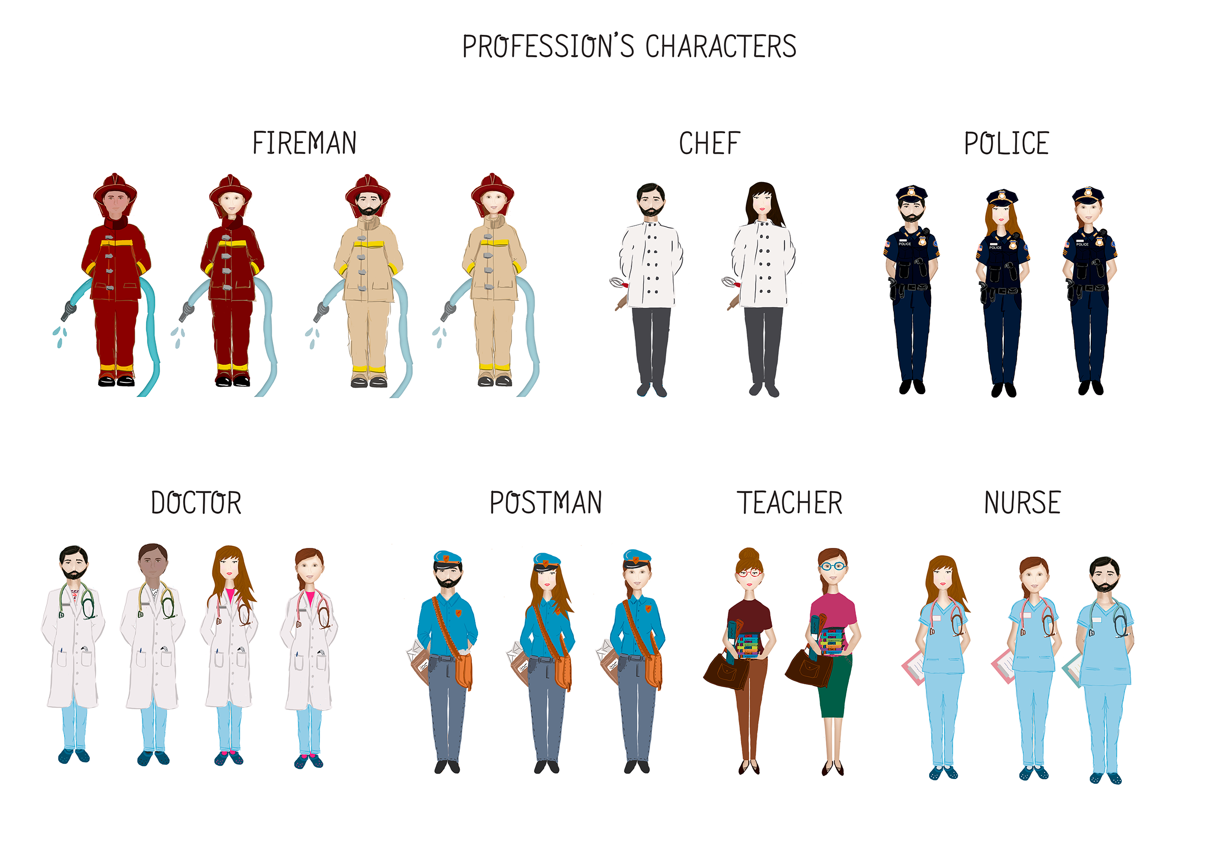 Profession's Characters example image 1