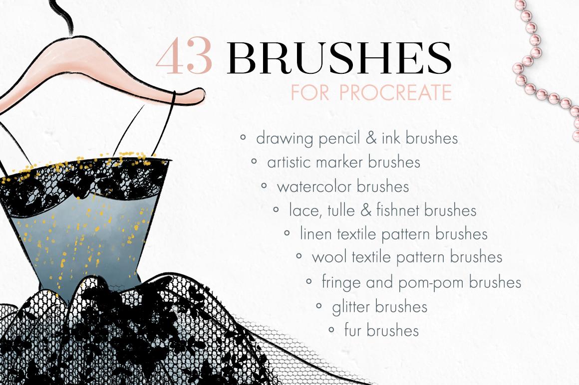 Fashion Illustration Brushes for Procreate example image 3