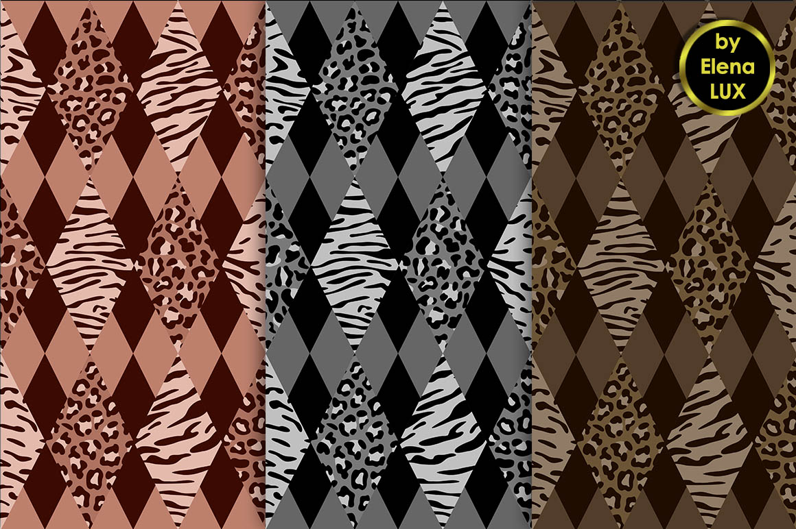 Tiger and Leopard Seamless Set example image 3