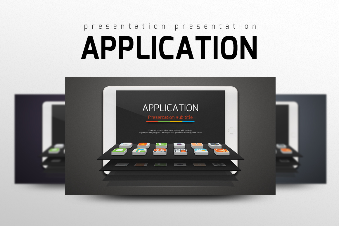 Application Presentation Template example image 1