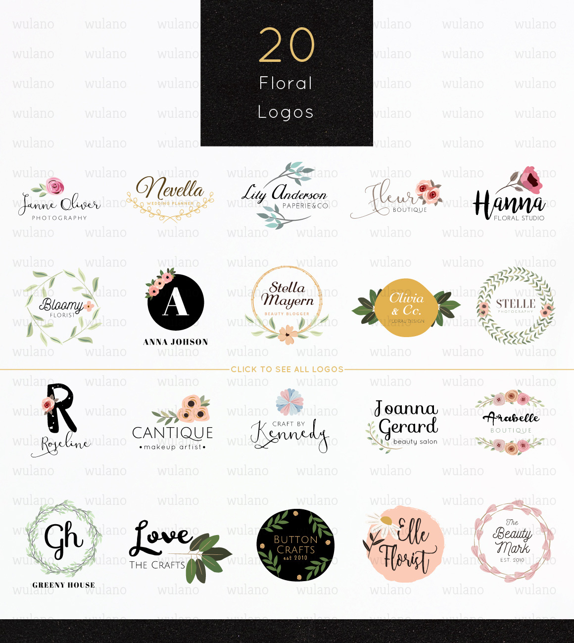 Floral Logo Templates Vol.1 example image 2