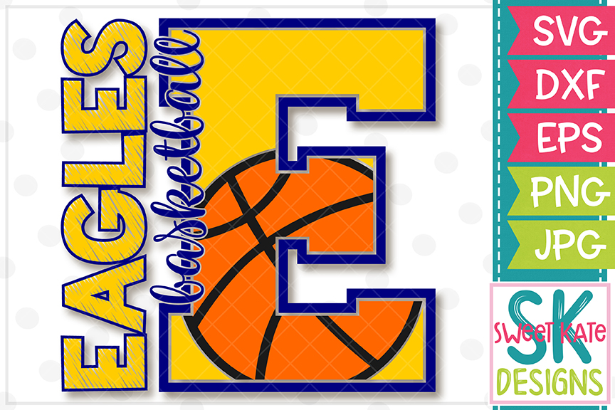 E Eagles Basketball SVG DXF EPS PNG JPG example image 4
