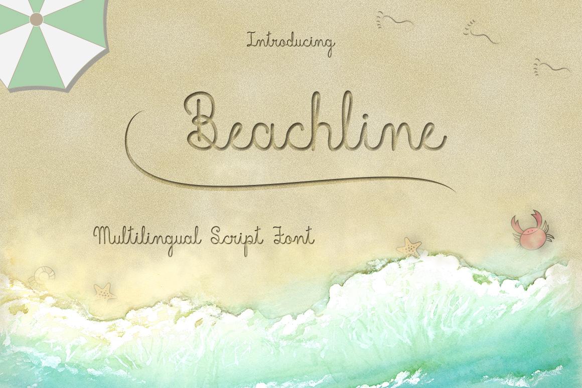 Beachline Multilingual Script Font example image 1