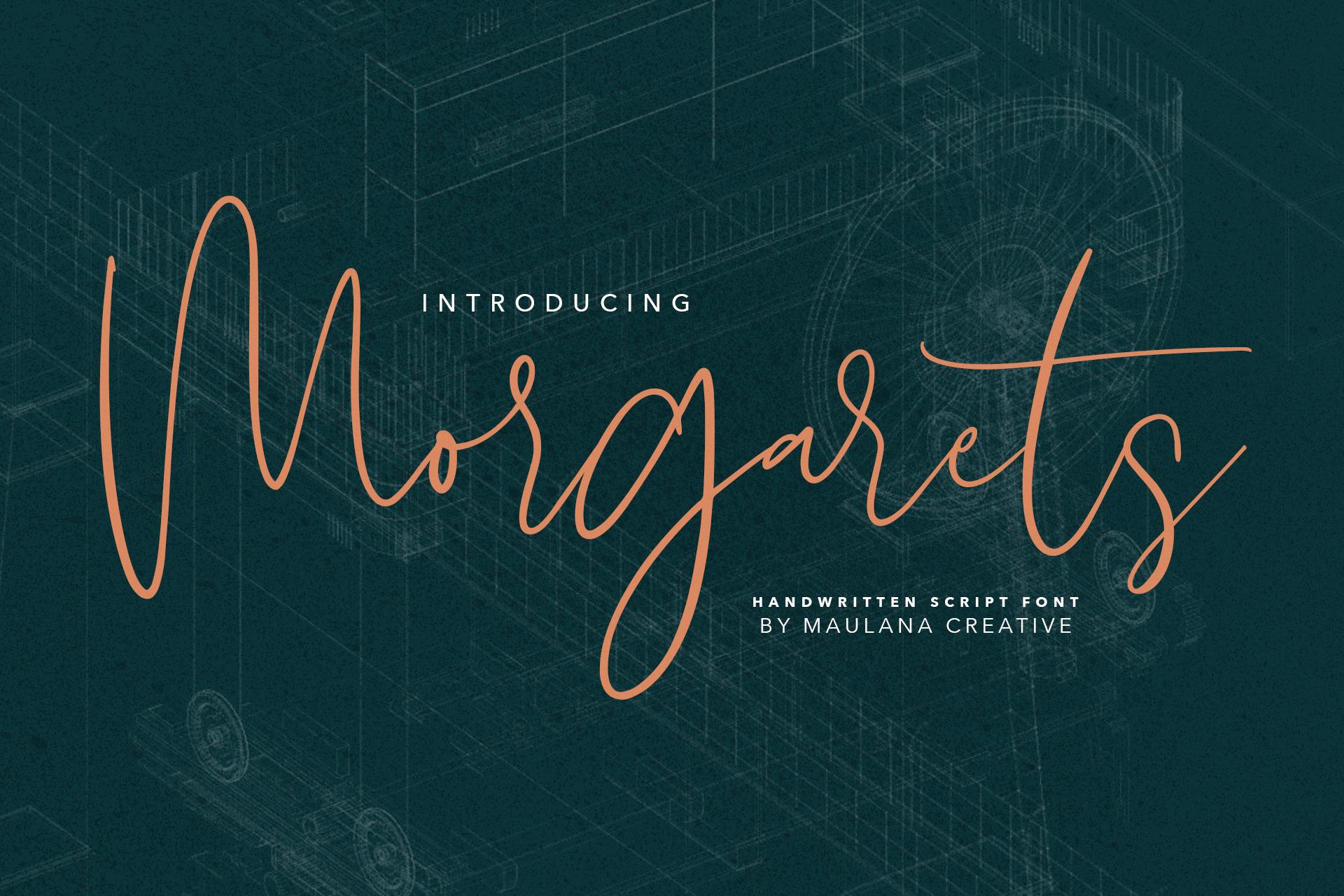 Morgarets Script Font example image 1