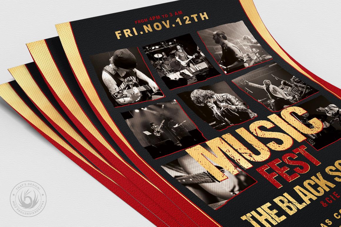 Music Festival Flyer Template V9 example image 5