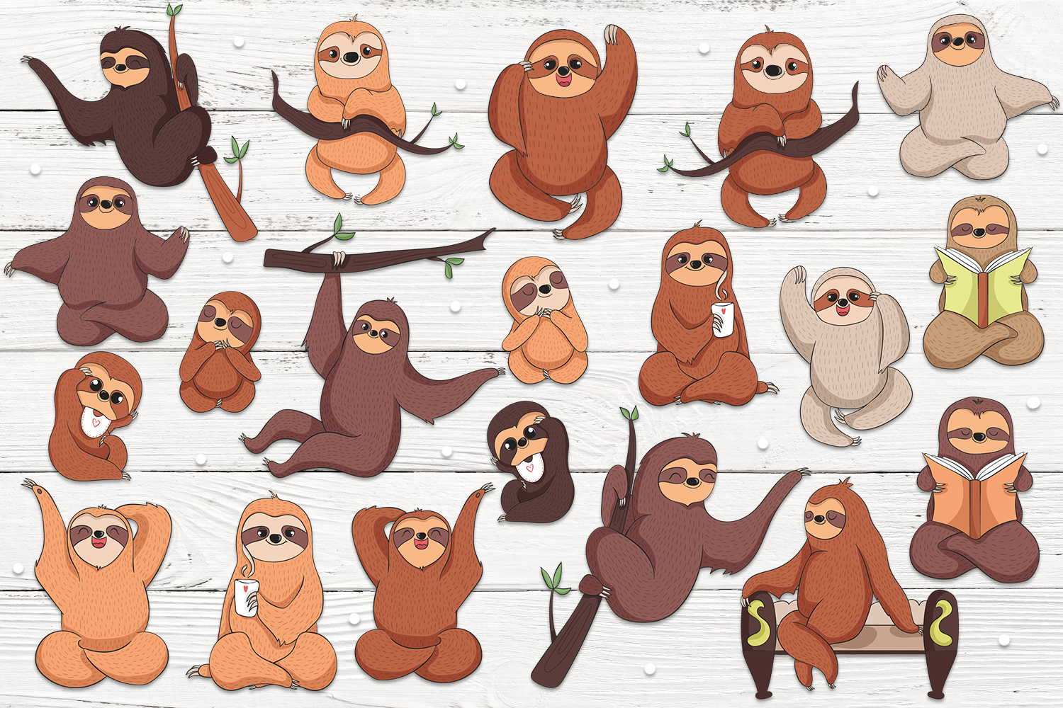 Lovable Sloths 2 example image 2
