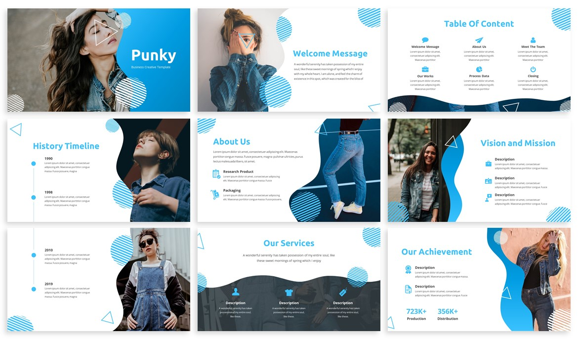 Pungky - Fashion & Creative Powerpoint Template example image 2