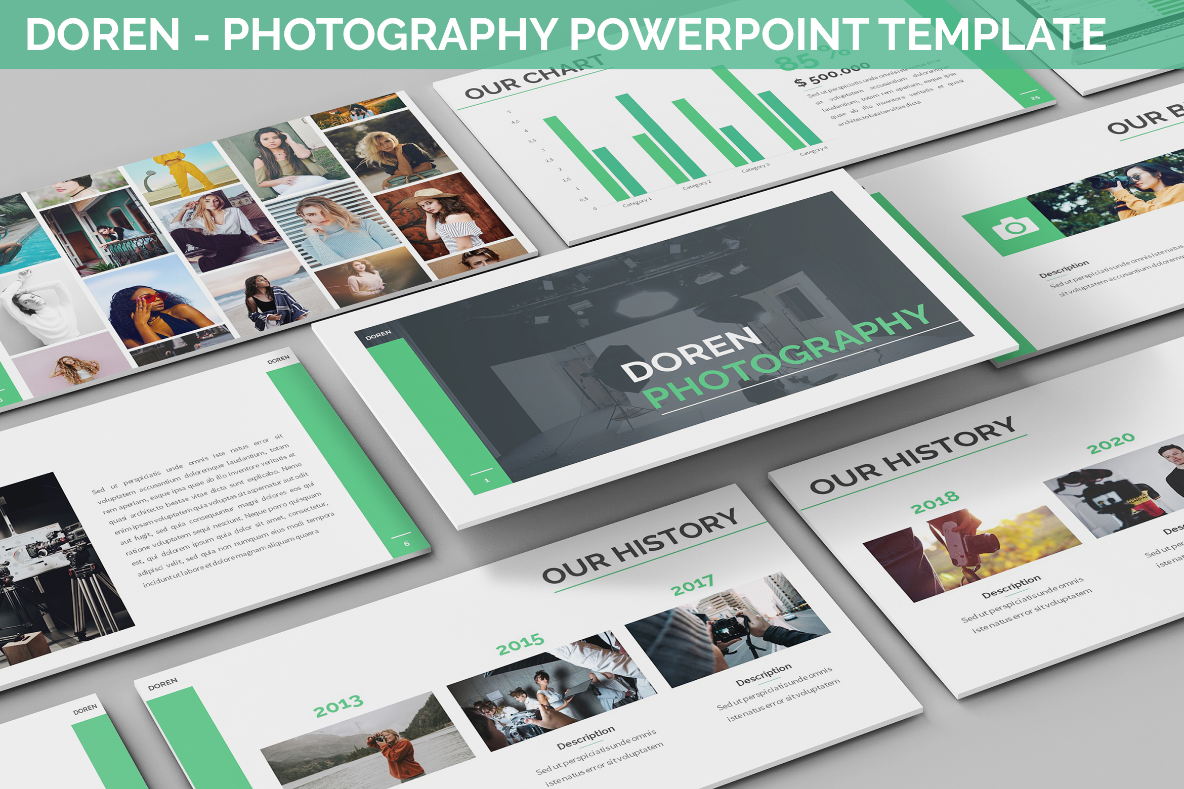 Doren - Photography Powerpoint Template example image 1
