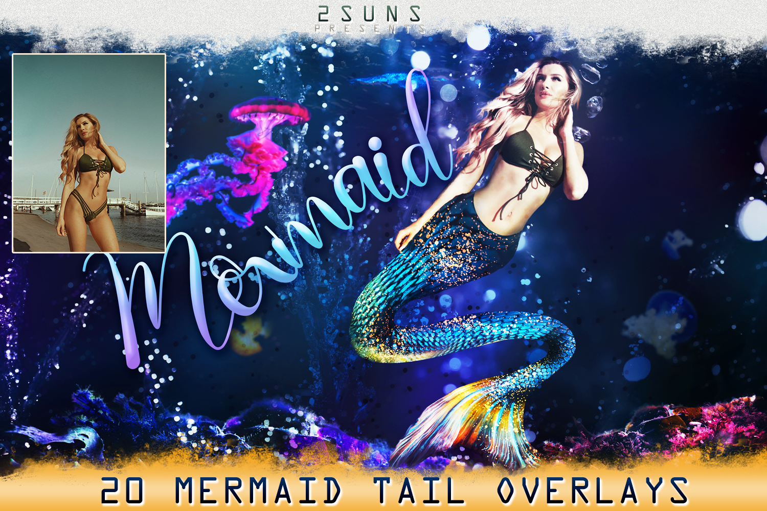 Mermaid tail, tails, overlays, Clipart, PNG, example image 2