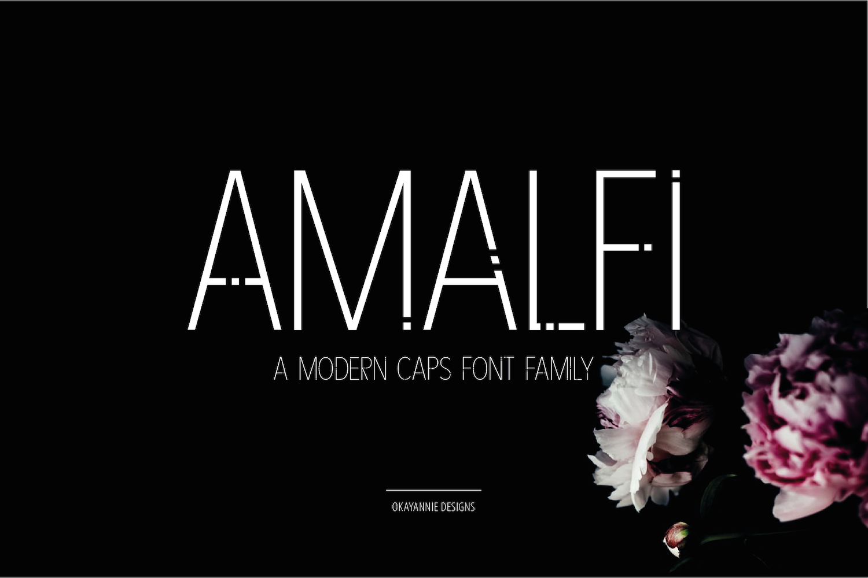 AMALFI - A Modern Font Family example image 1