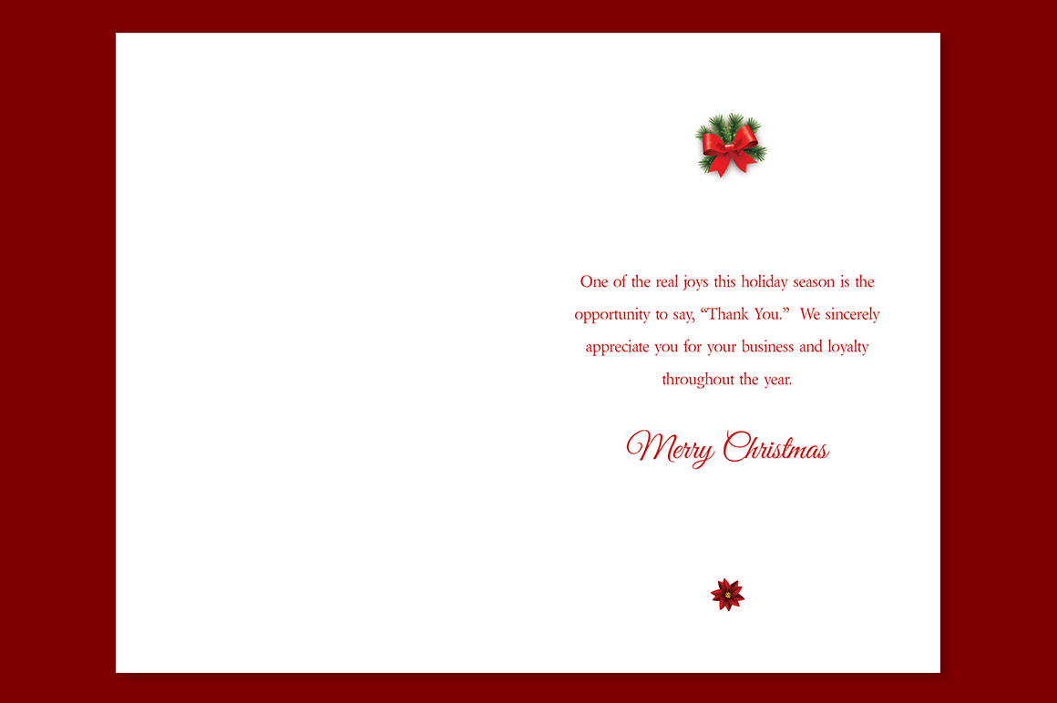 Red Christmas Card Template example image 5
