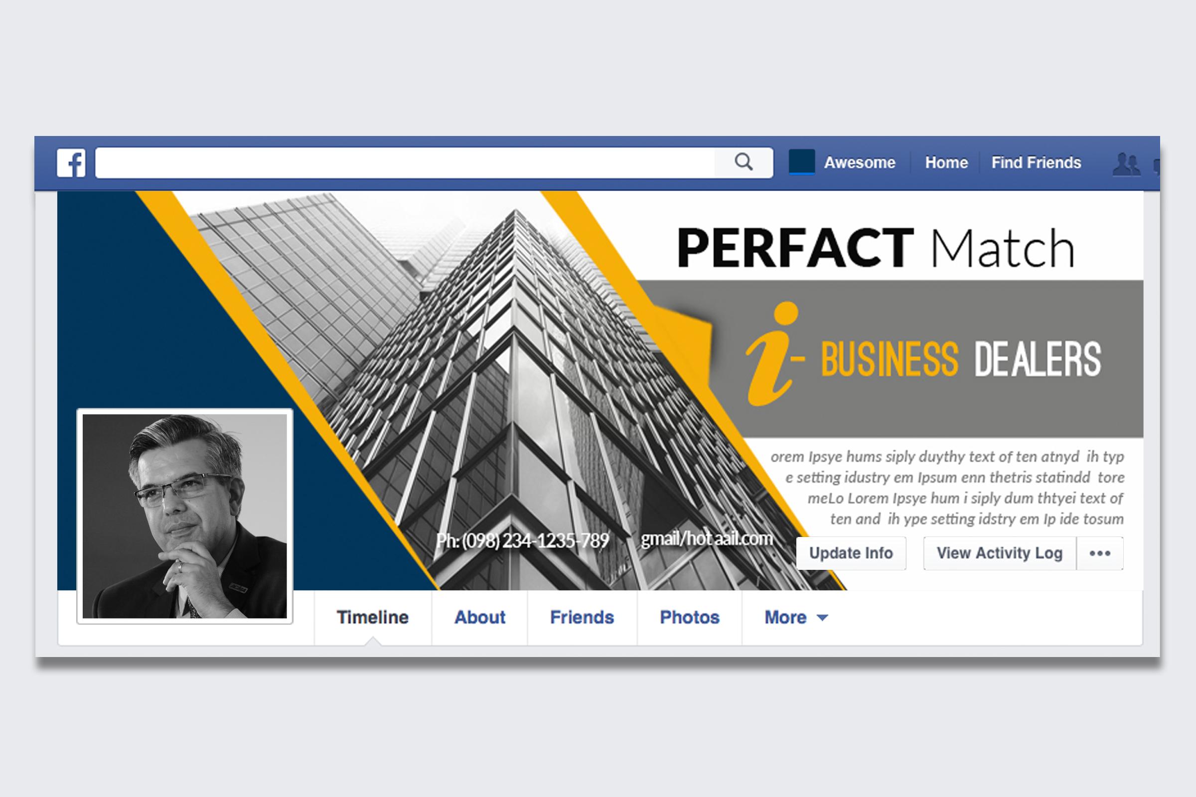 10 Business Facebook Timelines Bundle example image 11