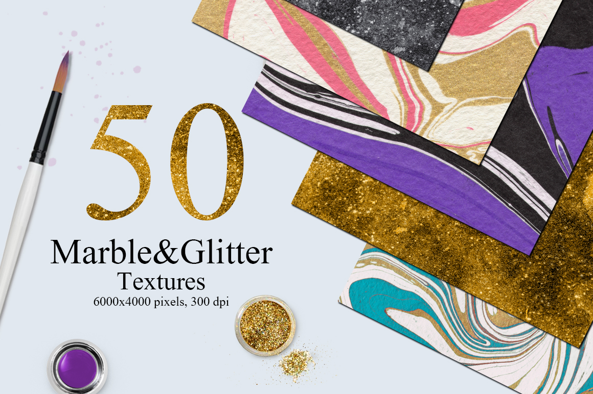 50 Marble and Glitter Textures example image 1