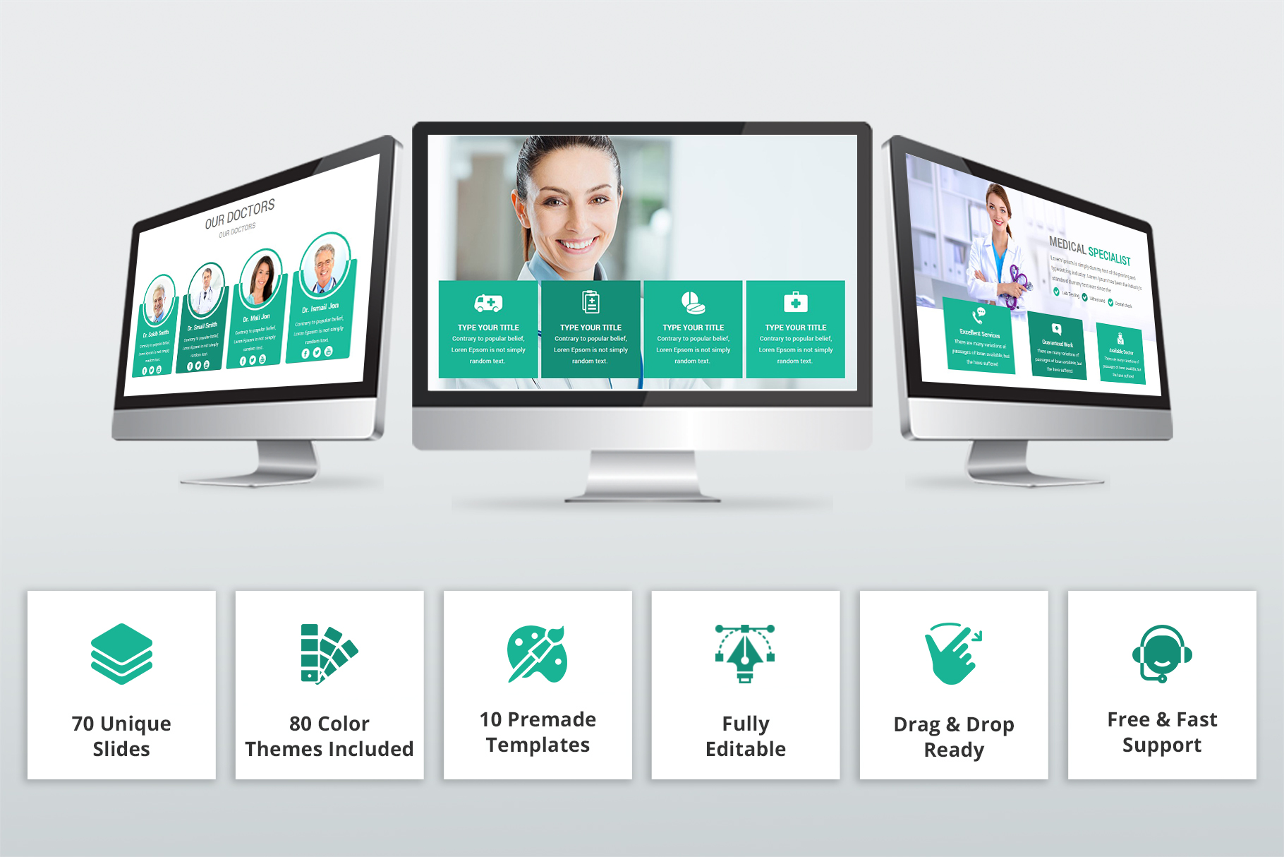 Medical and Healthcare Presentation PowerPoint Template example image 2