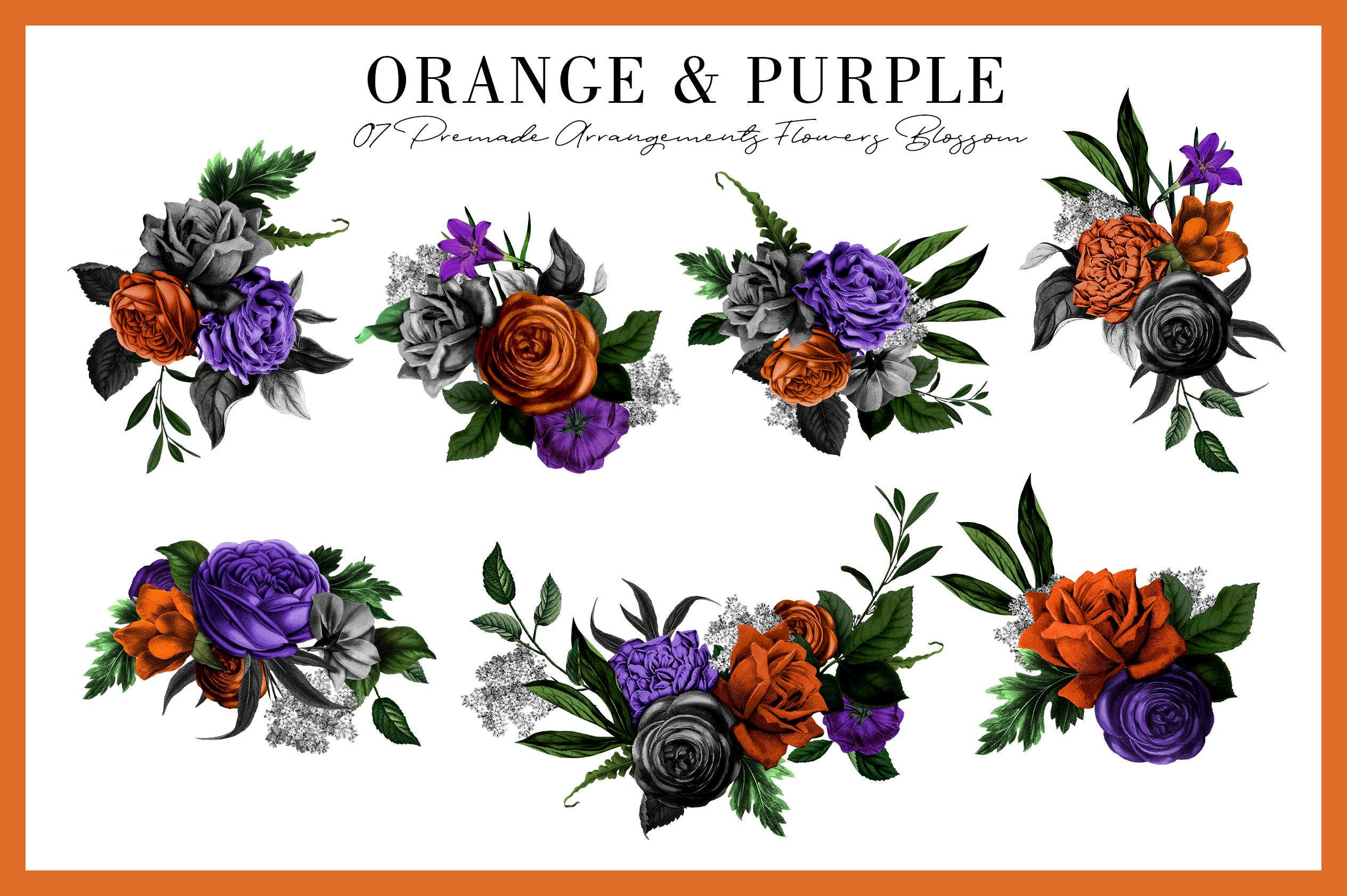 Orange & Purple Flower | Halloween Blossom example image 3