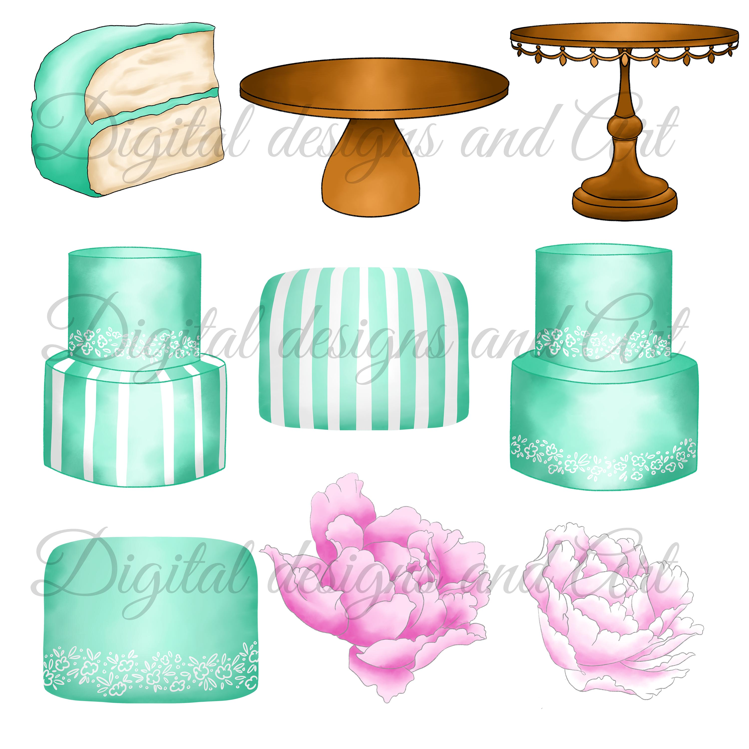 Fashion cakes clipart example image 4