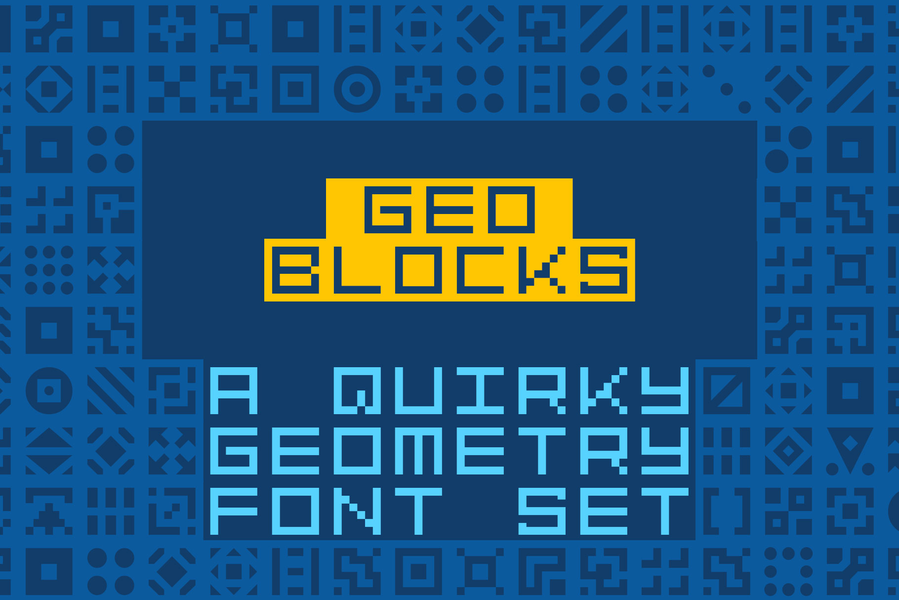 GeoBlocks - a geometric font set of blocks and shapes! example image 1