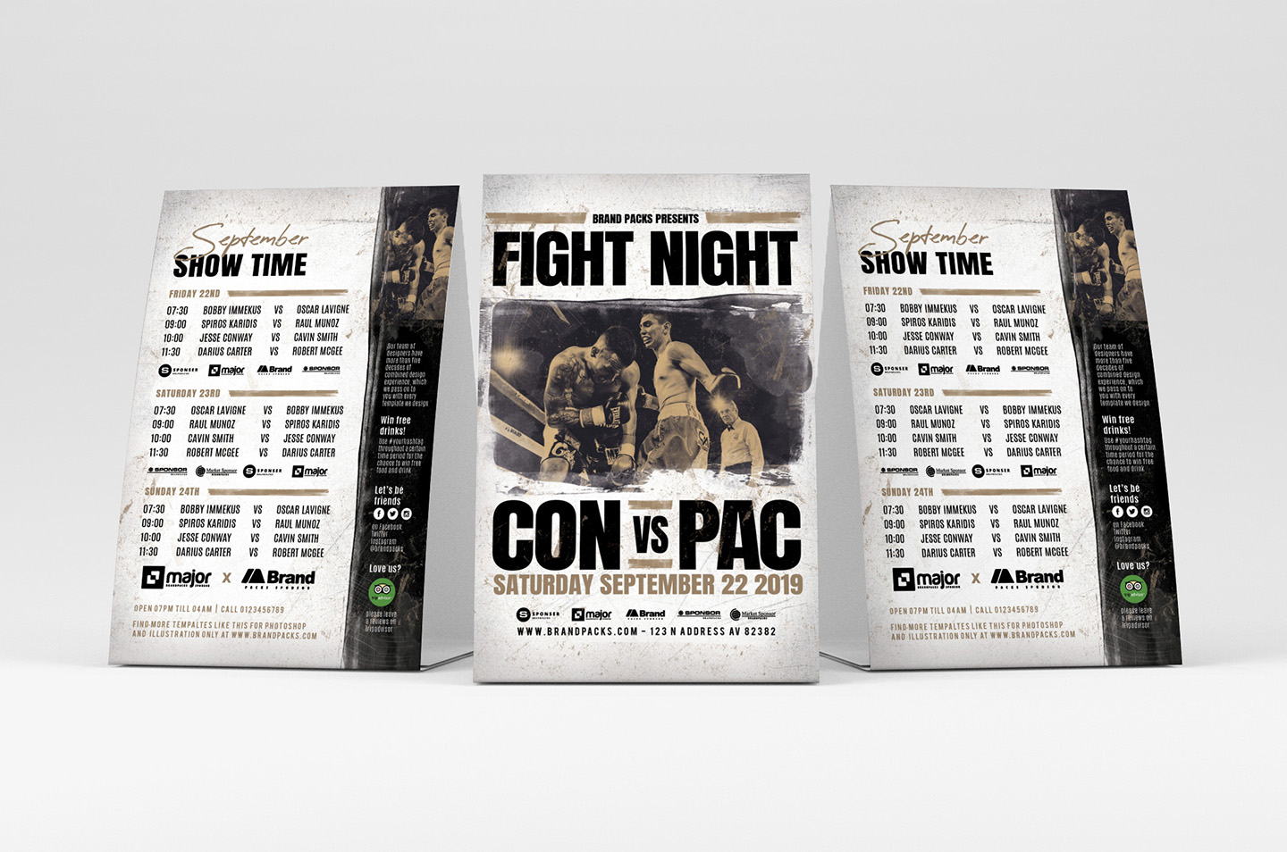 Fight Night Flyer Template example image 2
