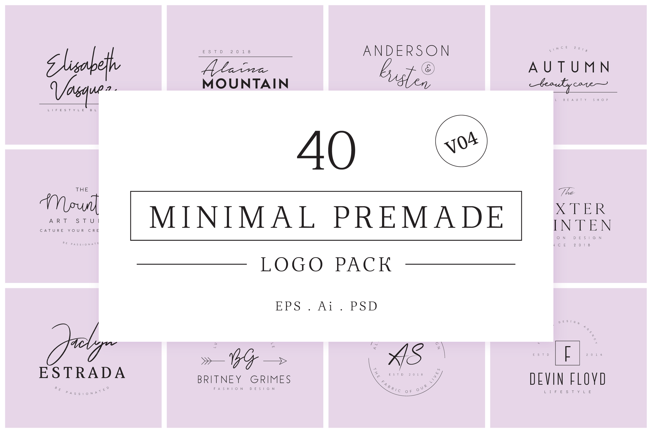 640 Premade Logos Mega Bundle example image 21