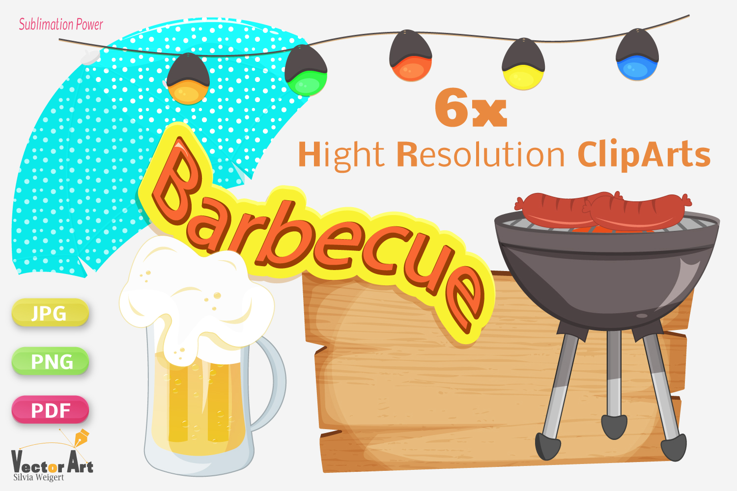 Barbecue - Craft Bundle for Sublimation and Scrapbooking example image 2