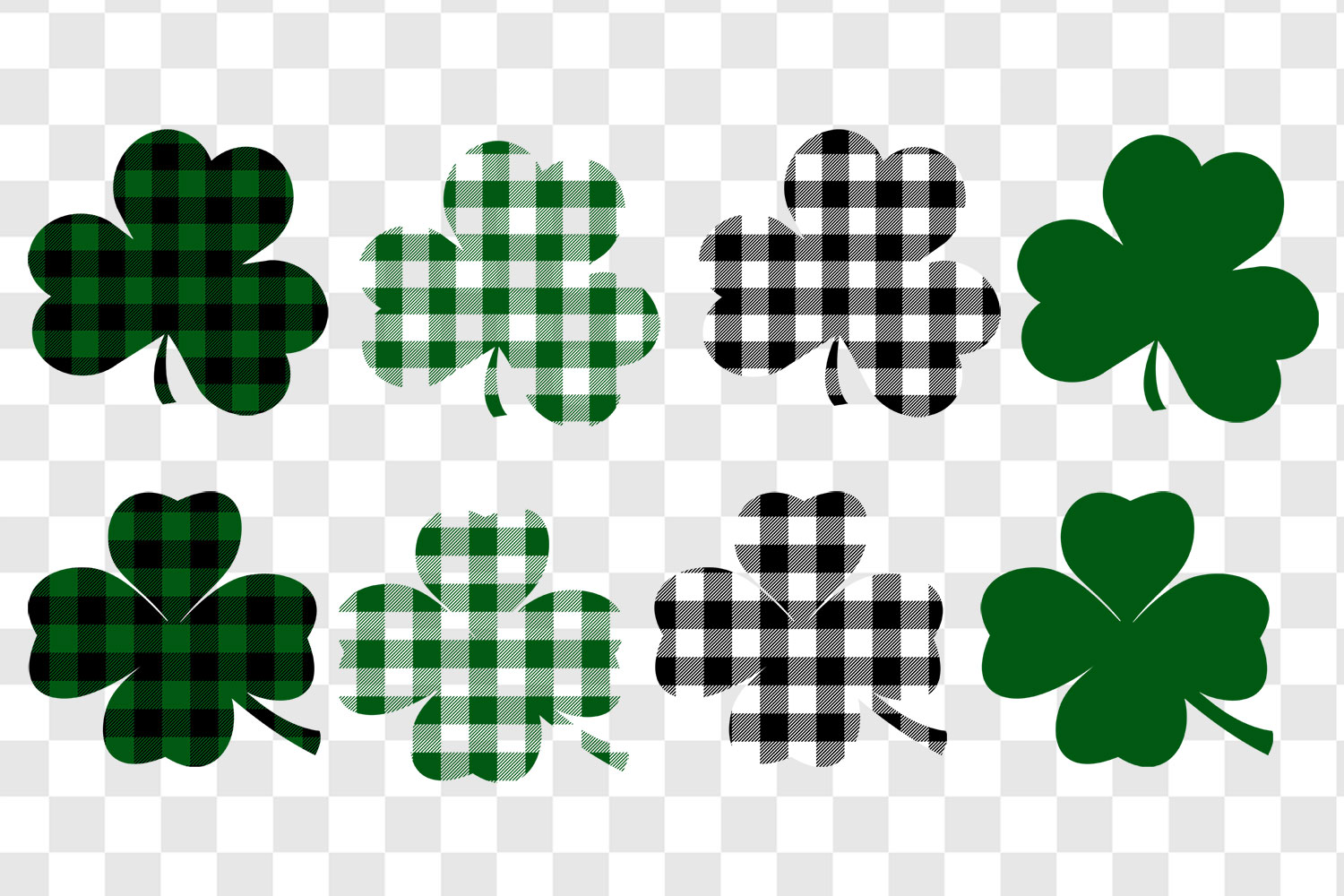 Buffalo Check St. Patrick's Day Shamrocks and Clovers example image 2