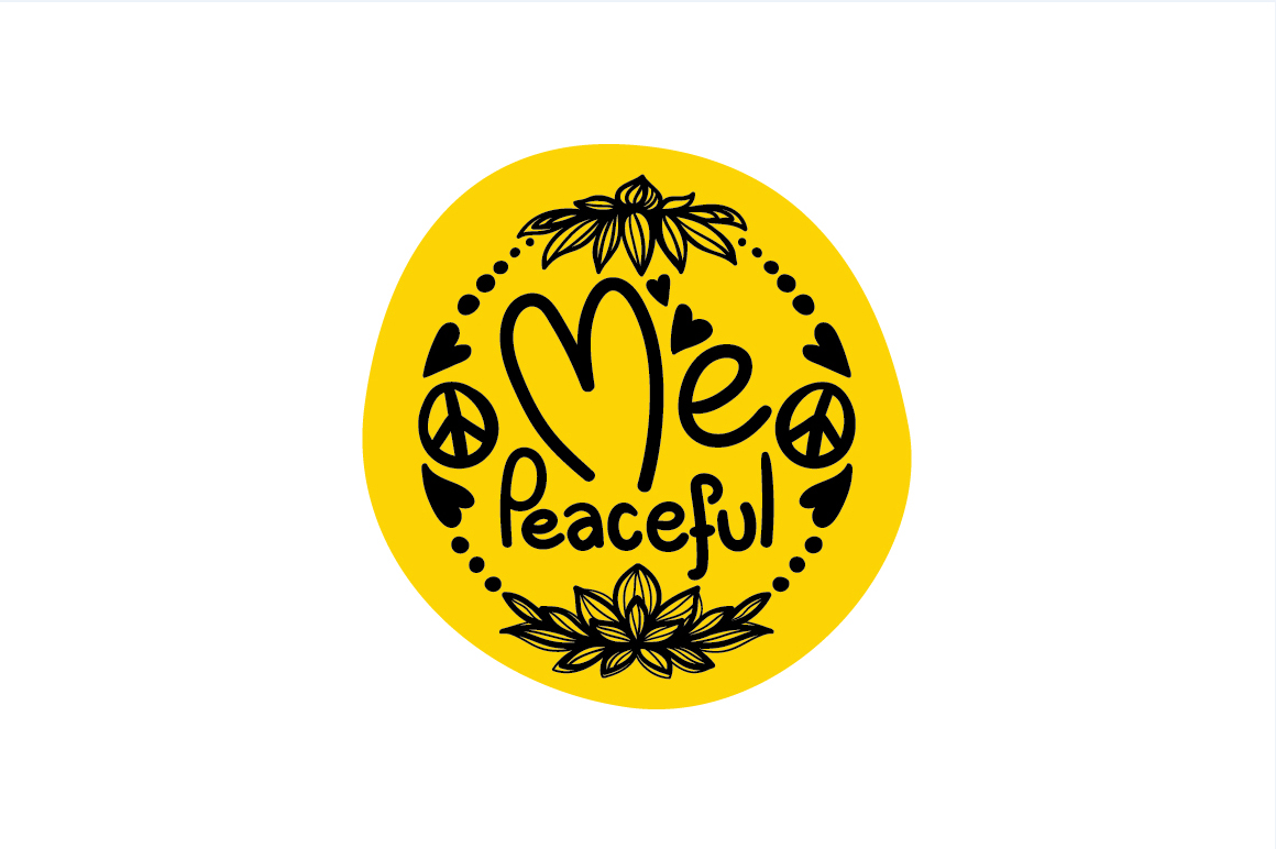 Me Peaceful - Freehand Calligraphic & Illustrative design example image 2