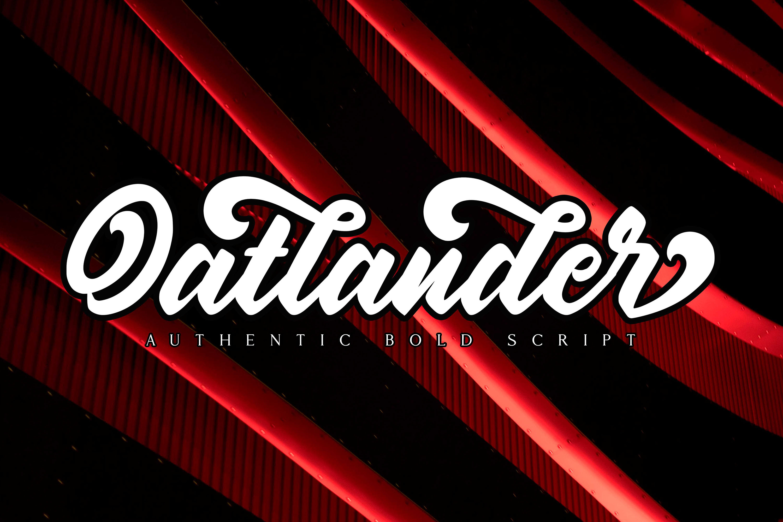 Oatlander - Authentic Bold Script example image 12