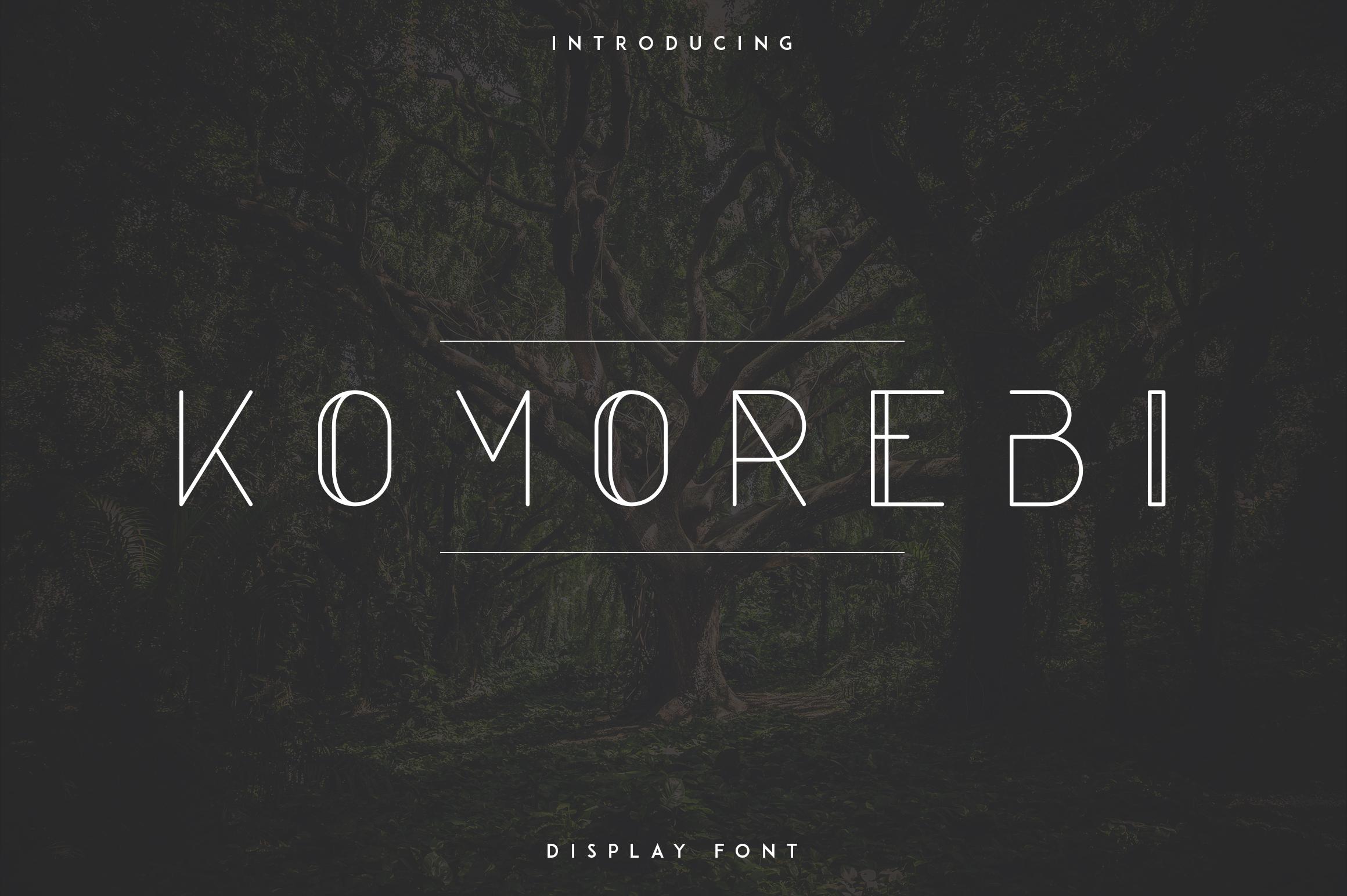 Komorebi Display Font example image 1