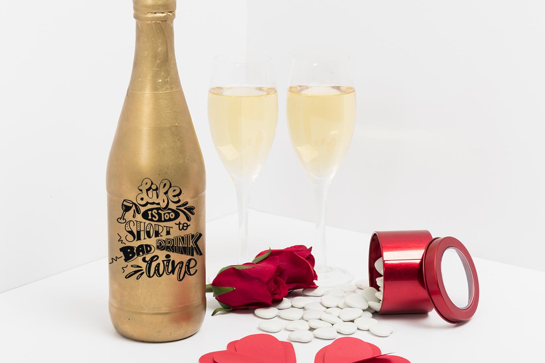Wine svg bundle Alcohol SVG for t-shirt Design example image 3