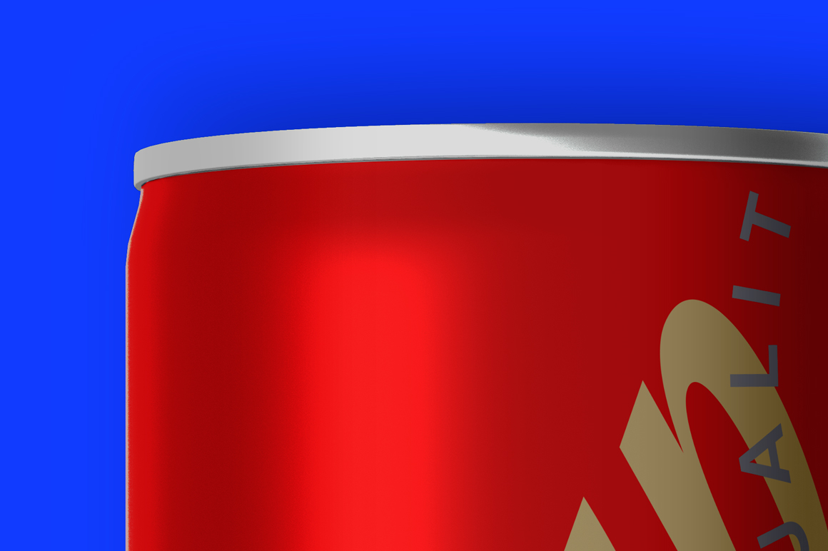 Energy Drink Can Mockup 250ml Top View example image 6