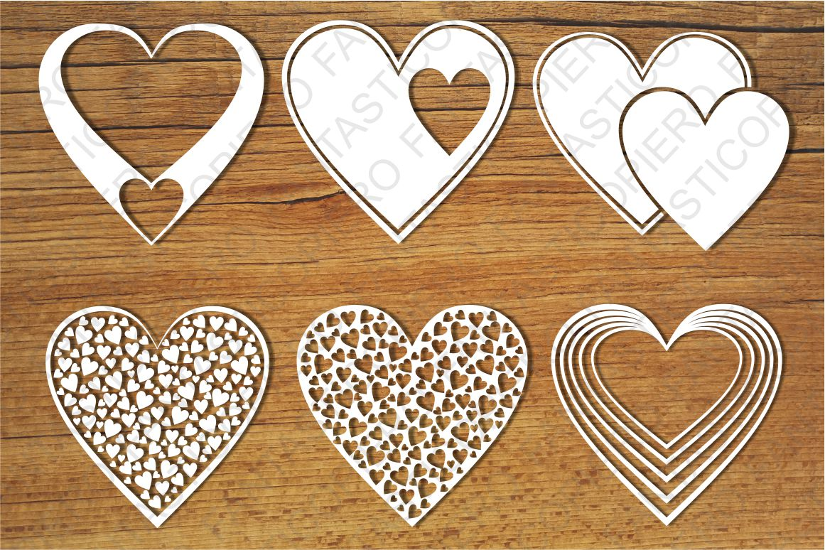 Hearts SVG files for Silhouette and Cricut. example image 1