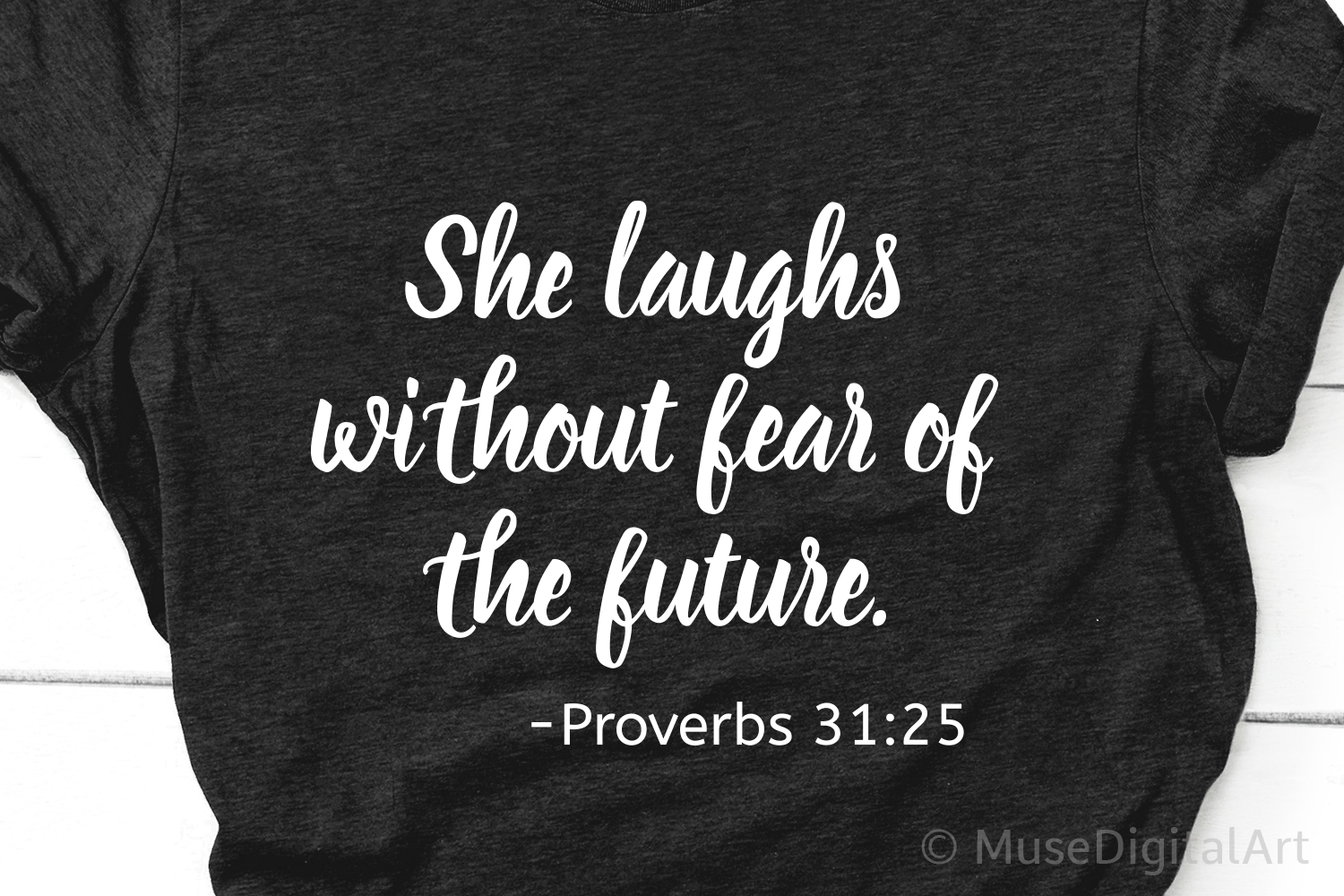 She Laughs without Fear of the Future Svg, Proverbs Svg File example image 1