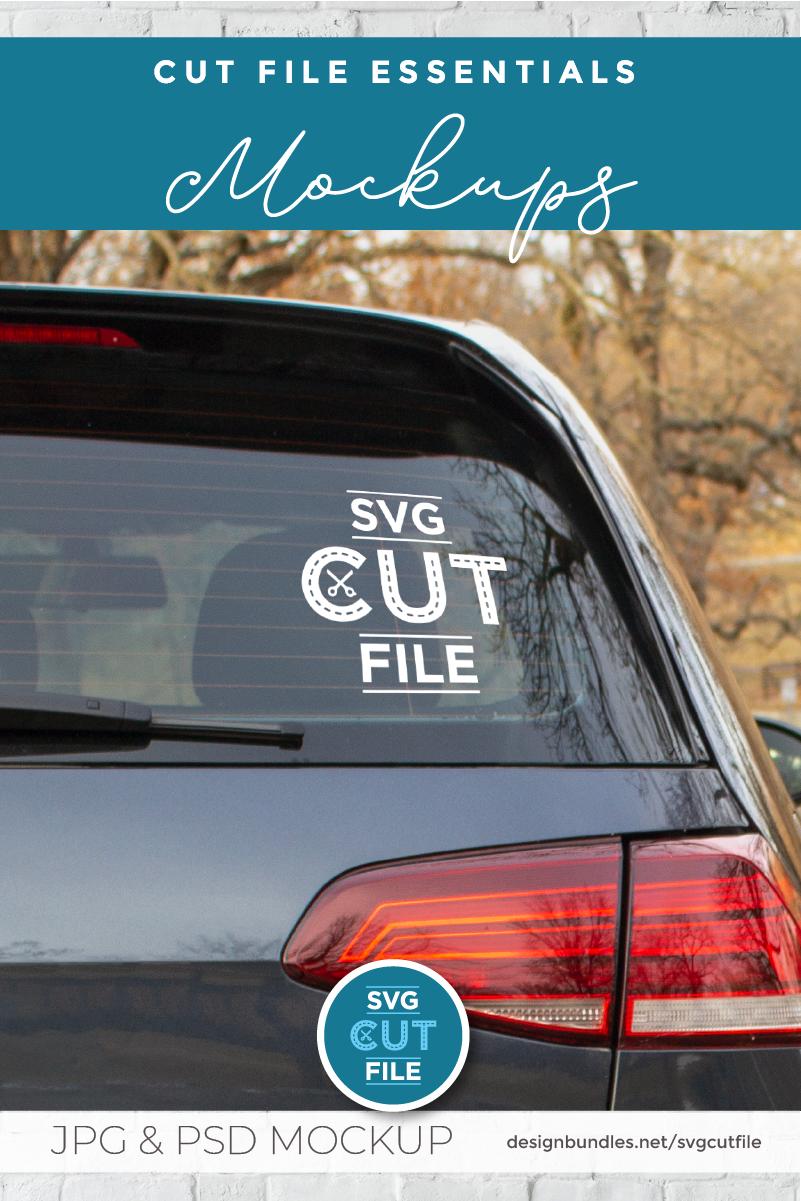 Car decal mockup, vinyl decal mock up, car sticker psd file example image 3