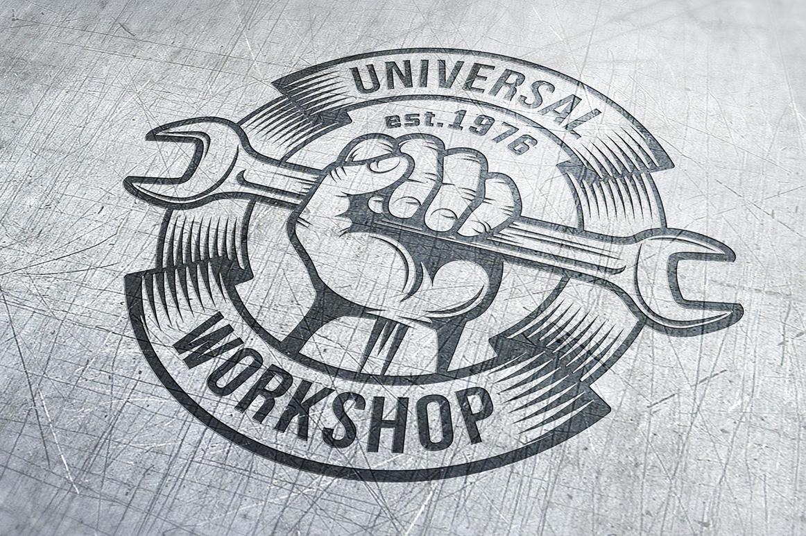 Repair workshop logo set example image 2