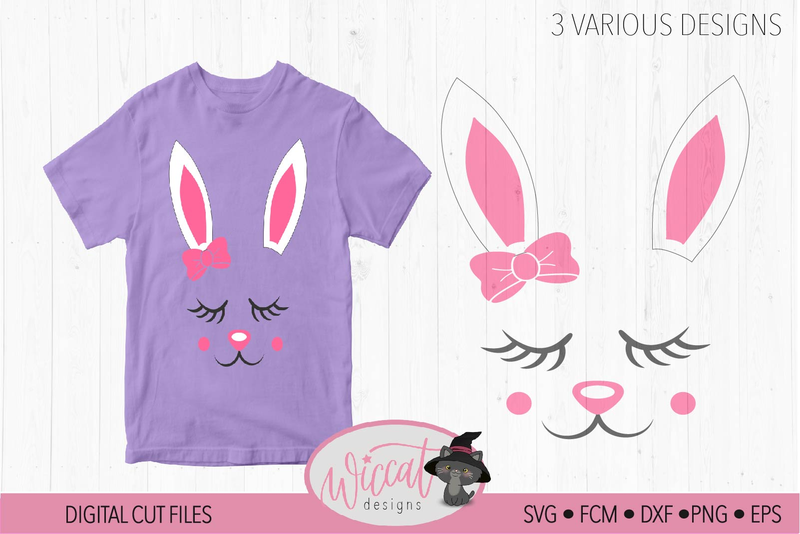 Easter bunny, Bunny svg, Bunny face svg, Girl bunny face svg example image 4