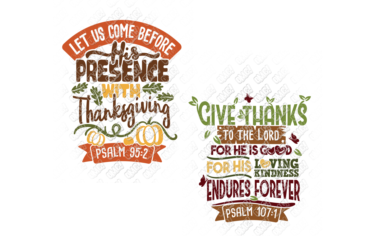 Thanksgiving Bible Verse SVG in SVG, DXF, PNG, EPS, JPG example image 2