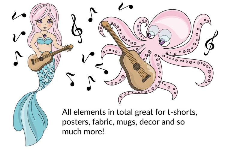 MERMAID SCHOOL Vector Illustration Animation Set example image 5
