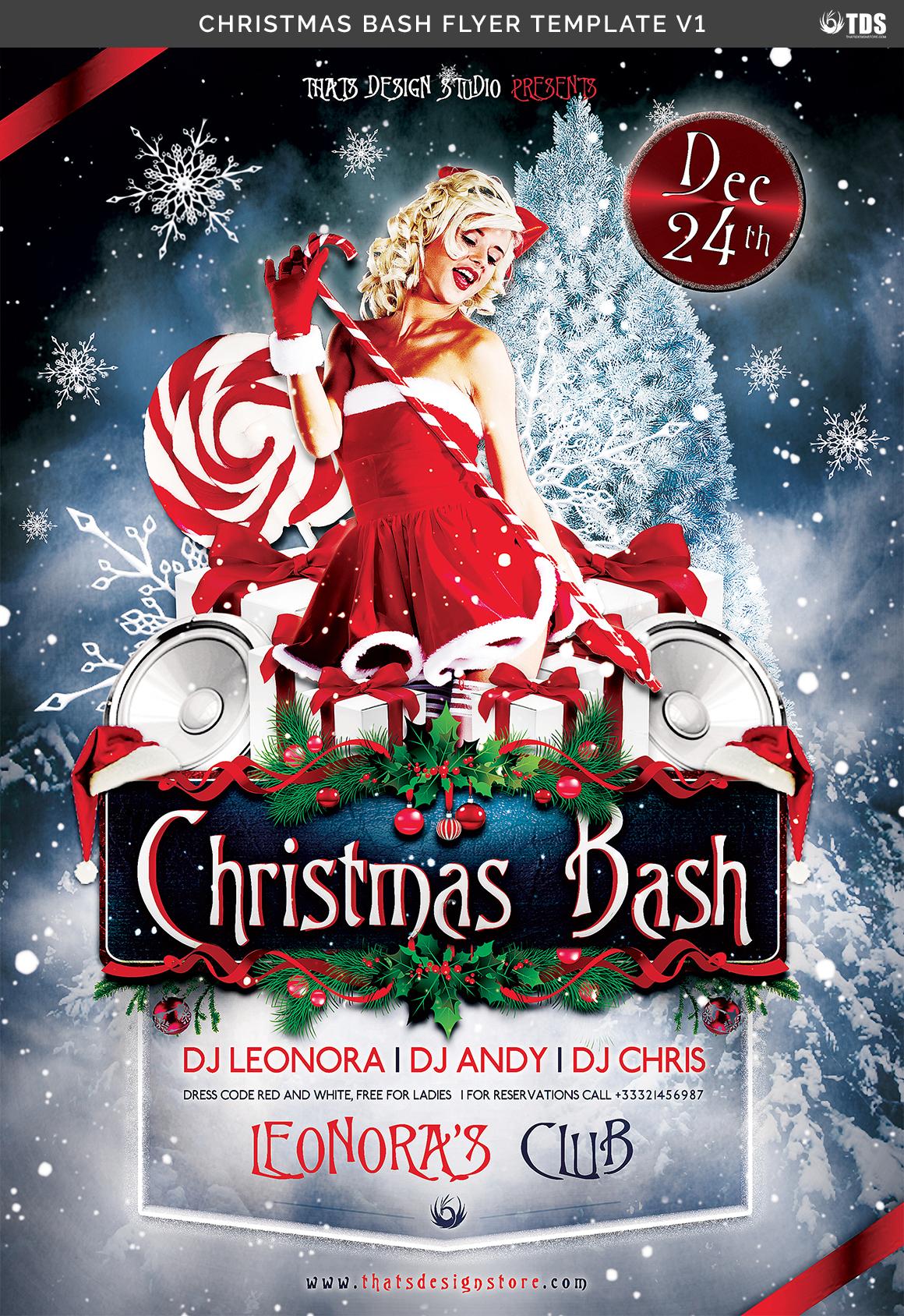 Christmas Bash Flyer Template V1 example image 7
