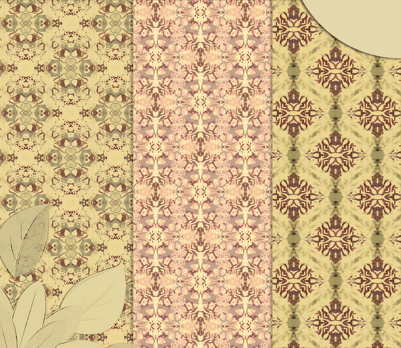 Vintage Abstract Patterns, Digital Scrapbook Paper example image 4