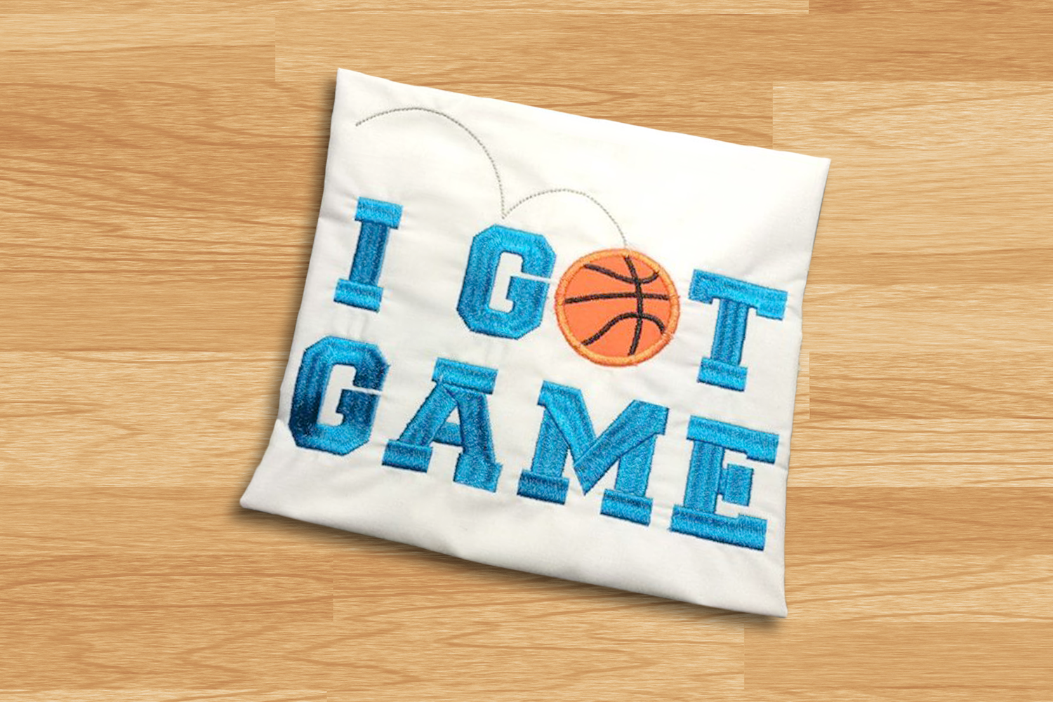 I Got Game Basketball Applique Embroidery Design example image 1