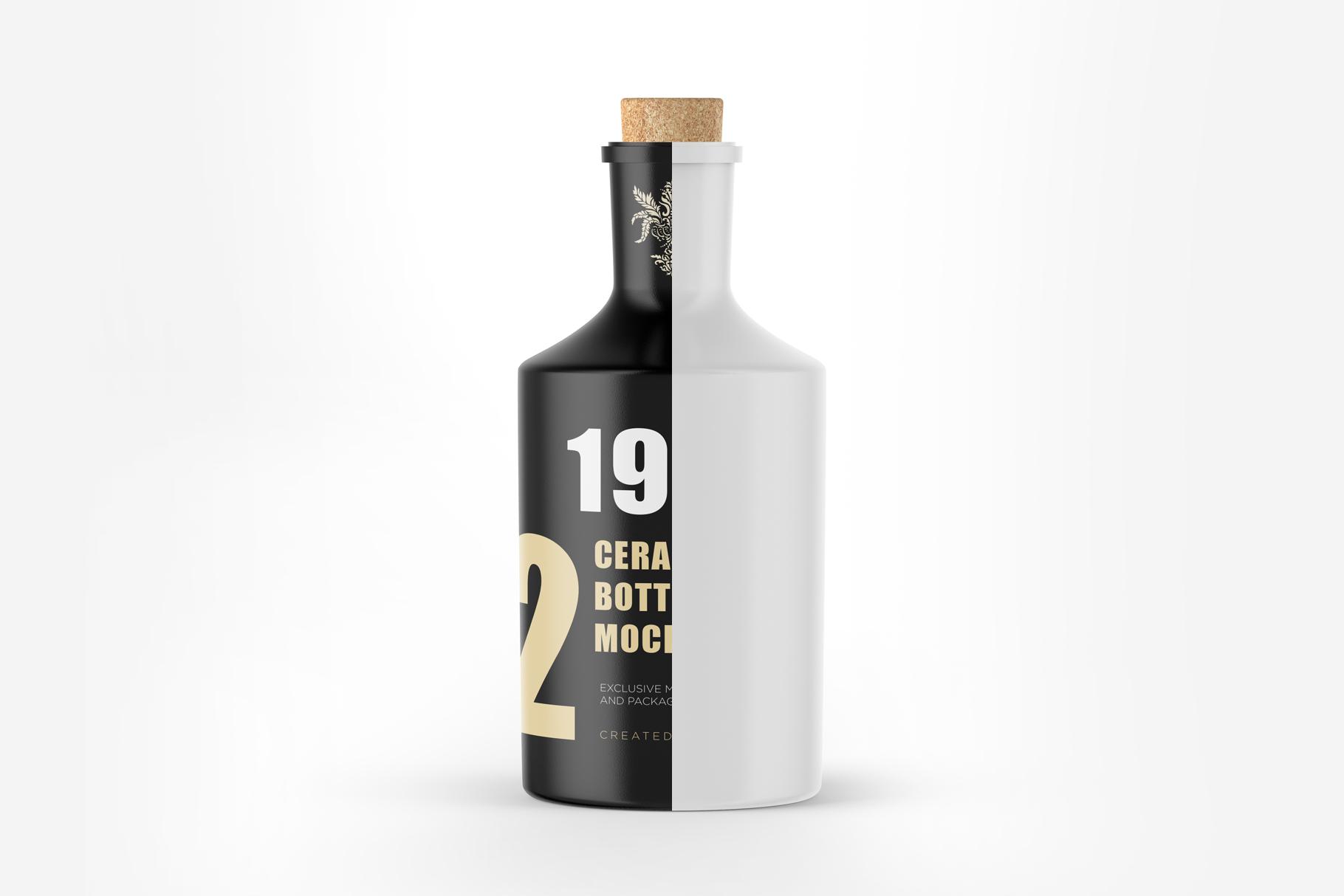 Ceramic Bottle Mockup example image 4