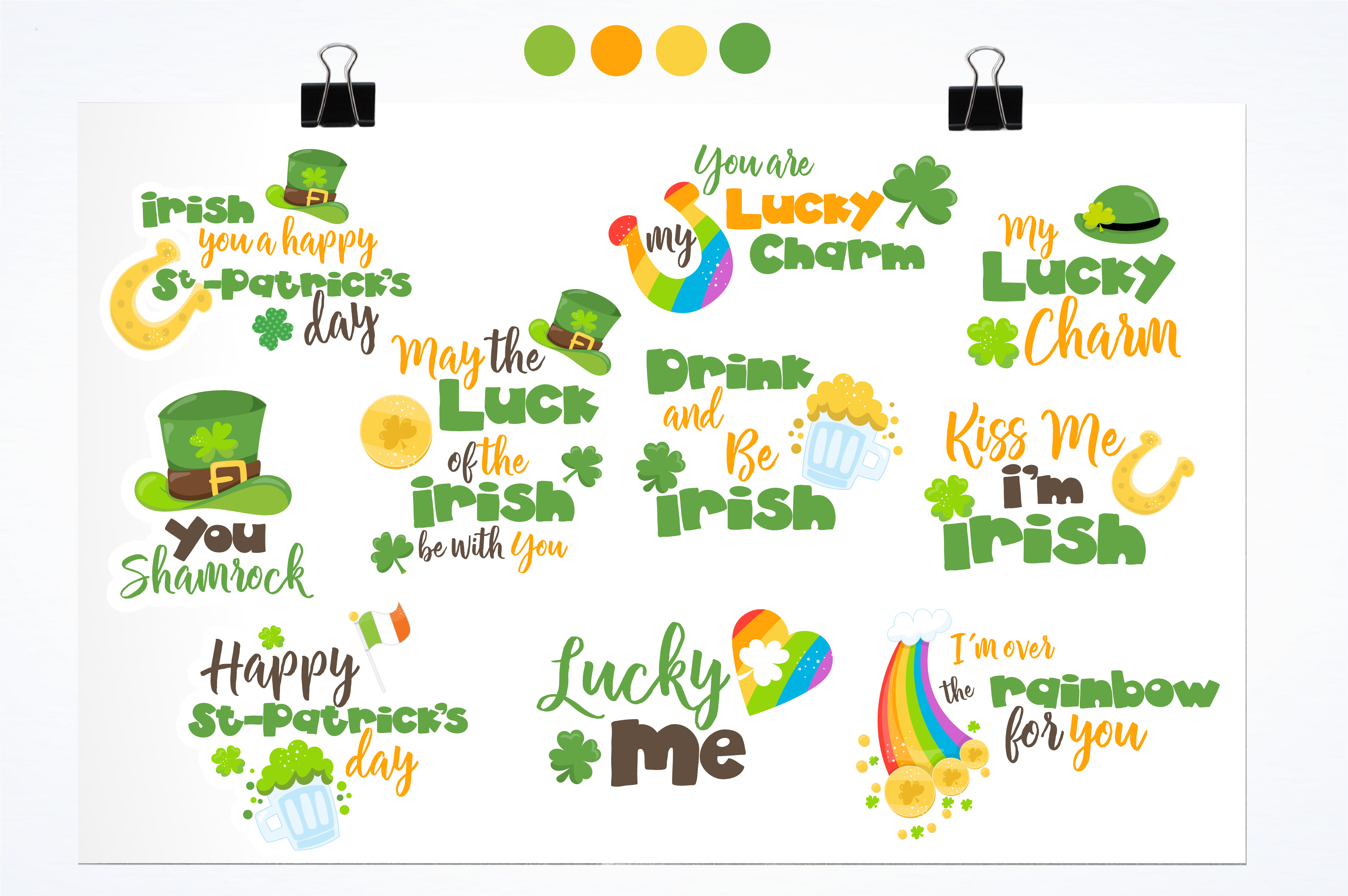 St-Patrick word art graphics and illustrations example image 2