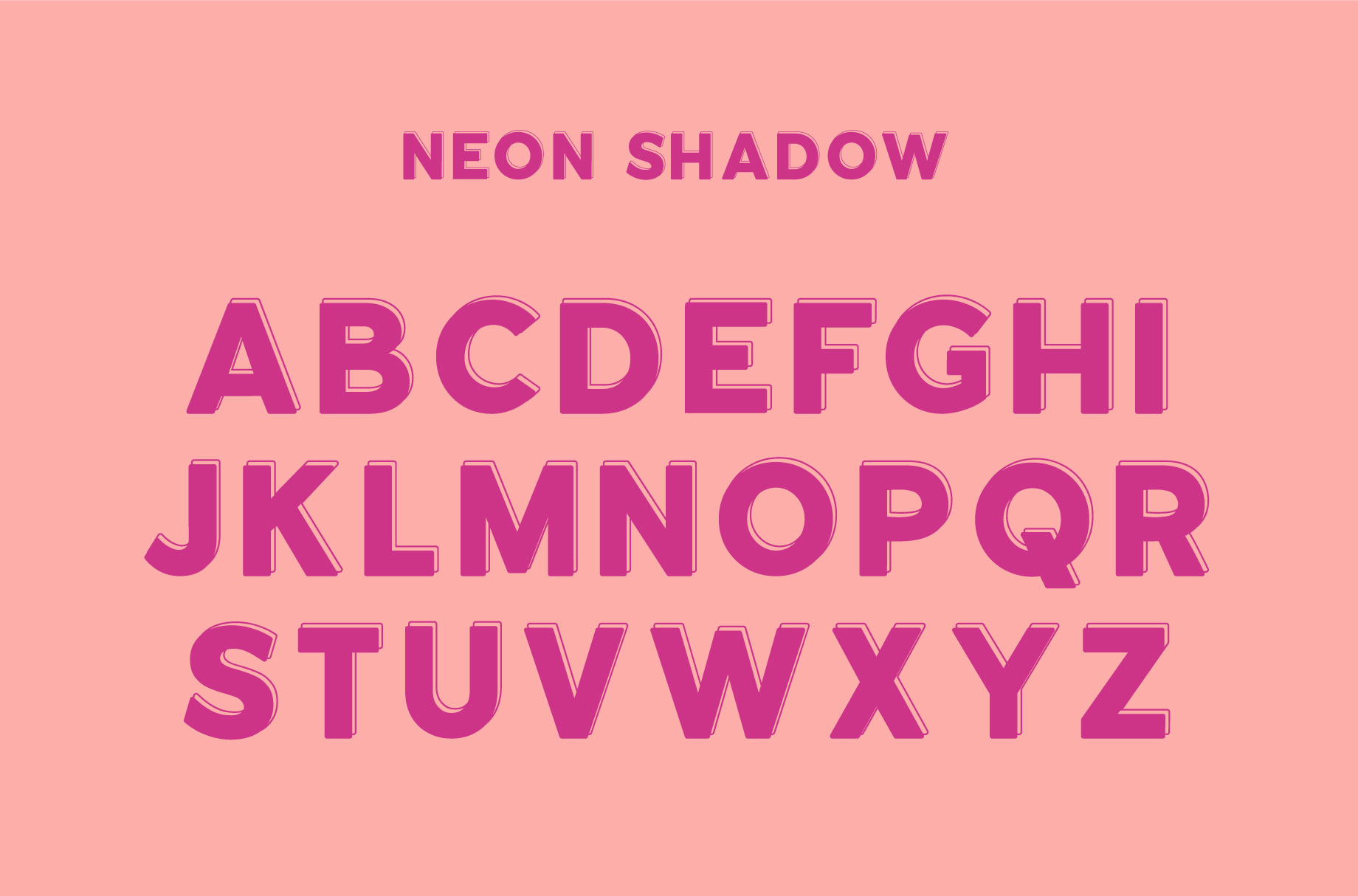 Neon | An Outline Font Bundle example image 10