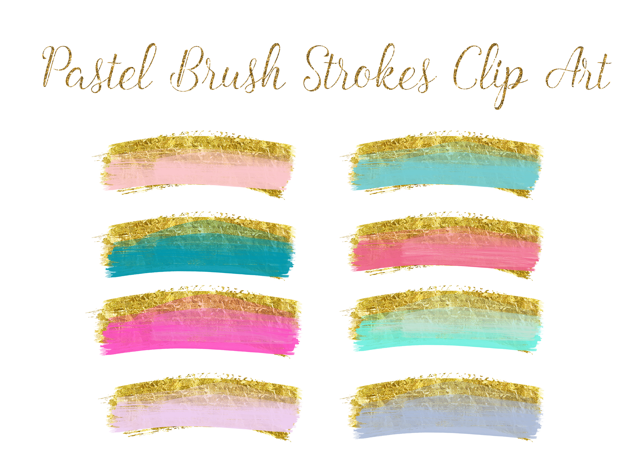 brush strokes clip art, gold brush clipart, gold paint clipart, wedding gold Paint Clipart, gold ink strokes clipart, watercolor clip art example image 2