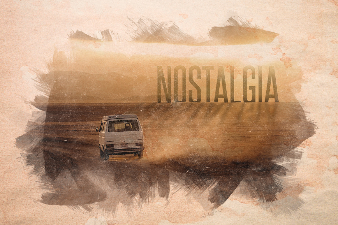 Nostalgia - Old Watercolor Overlays example image 1