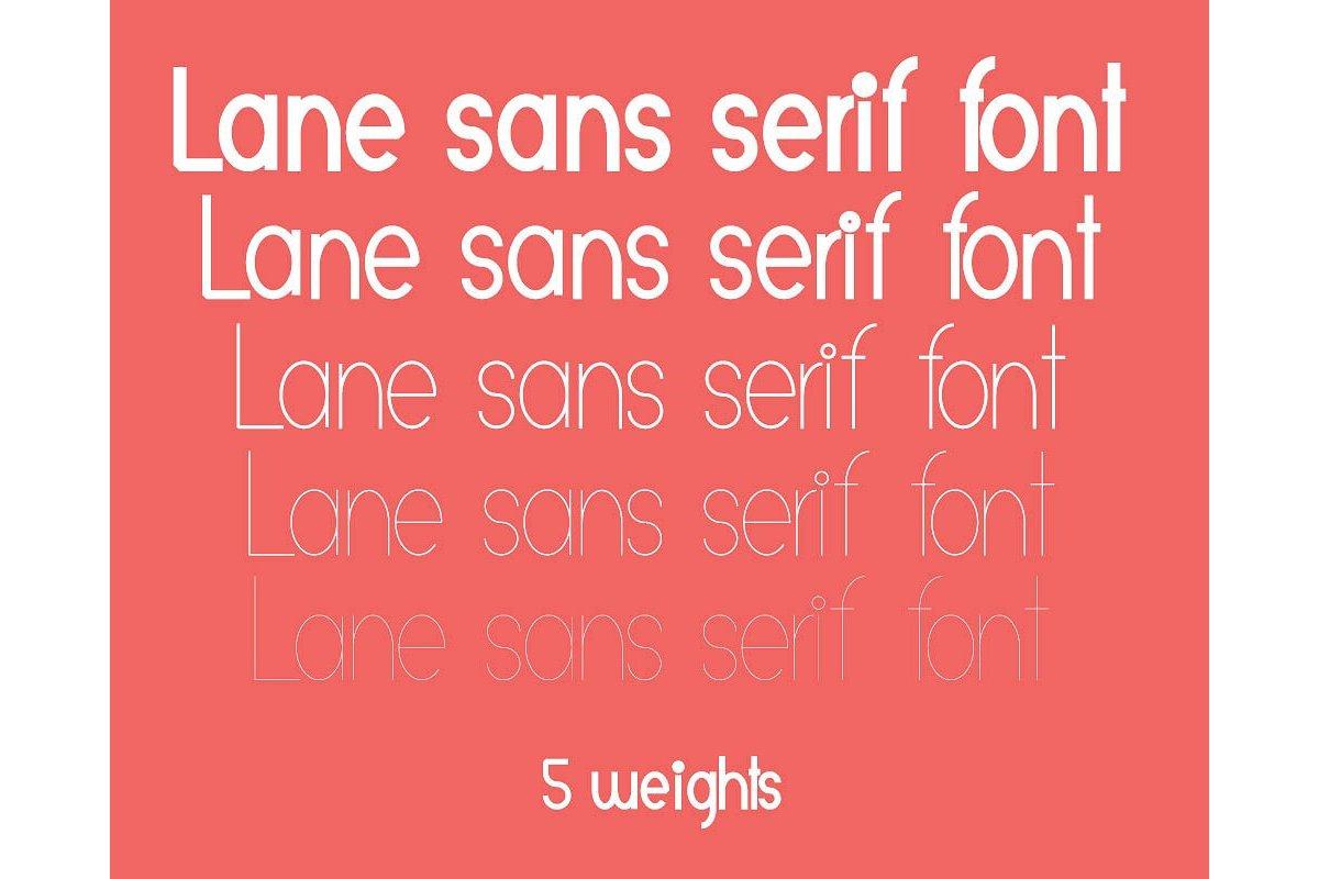 Lane sans serif typeface example image 2